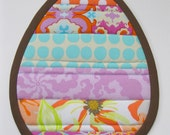 Stripey Egg Potholder and Mug Rug Tutorial and Sewing Pattern in PDF Format.