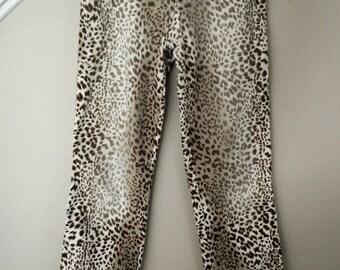 BLUEMARINE Vintage leopard print jeans