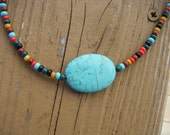 multicolor beaded turquoise necklace