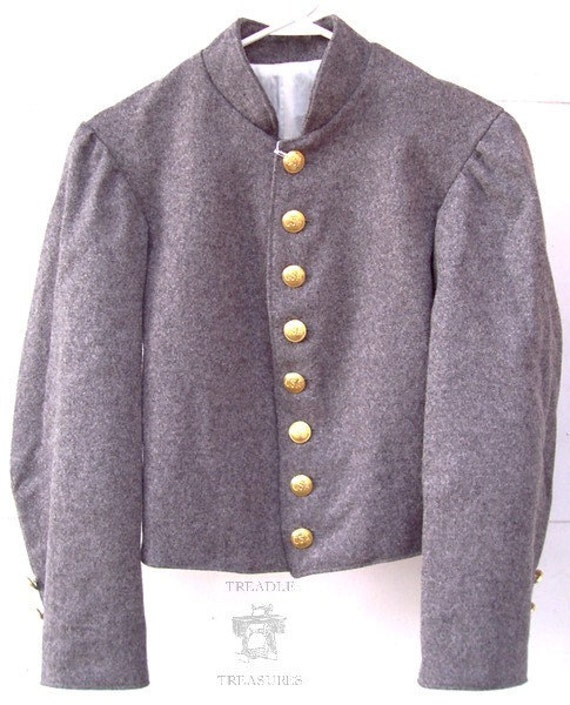 Civil War Boys Confederate Wool Shell Jacket Size Large