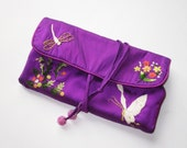 Jewelry Travel Case in Hand Embroidered Silk