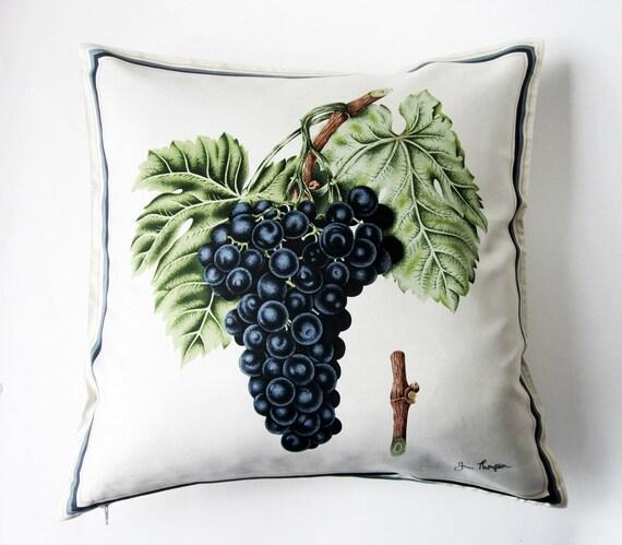 Vintage Jim Thompson Silk Cushion Cover-Grape Vine