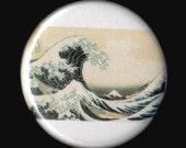 Great Wave Off Kanagawa 1.25 Inch Button