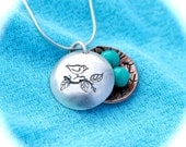 Momma Bird Nest Personalized Charms Locket for Mom