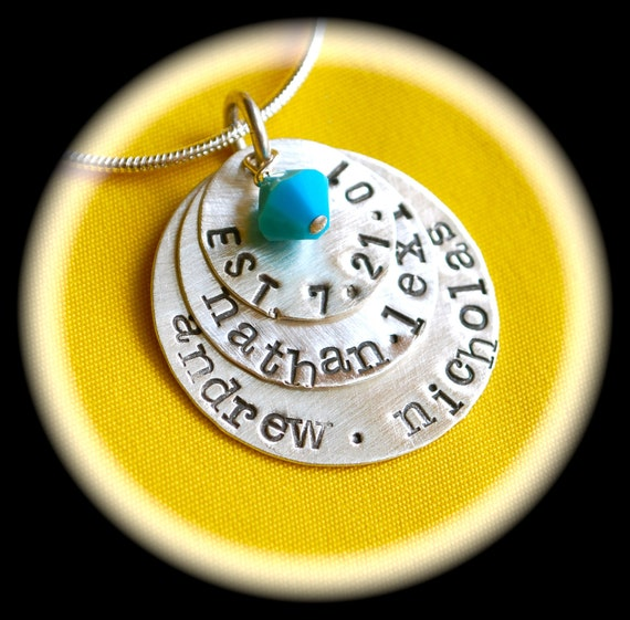 3 Layers of Love Personalized Charms Mommy Necklace