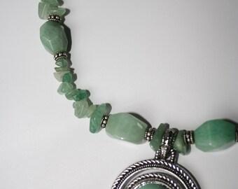Healing Semi-Precious Aventurine Stone Necklace