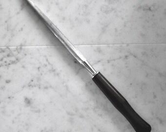 Old-School KNIFE SHARPENER, Vintage Hone, Elegant Wood Handle, Perfect for Chef or Gourmand!