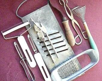 Vintage Kitchen Collection of Nine Utensils