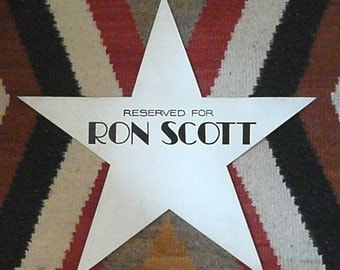 FILM Memorabilia, Ron Scott's Dressing Room STAR, 20th Century Fox Studios, 1940s
