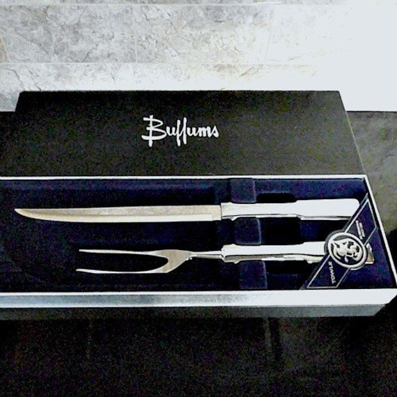 CHEF TOOLS, Carving Set, 'Byfield' by Towle, Stainless Steel, in Original Box, Mint Condition,1970s