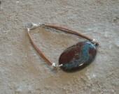 Jasper and Leather Bracelet