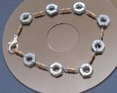 Past to Future Resistors and Hex Nuts Bracelet