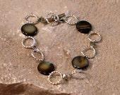 Mother of Pearl and Swarovski Bracelet