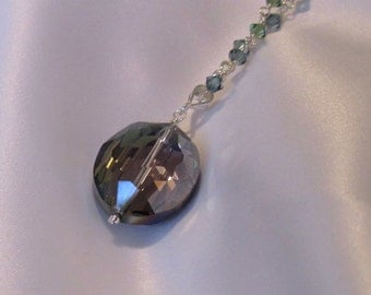 Blue Violet Chinese Crystal Necklace, Great Gift under 25
