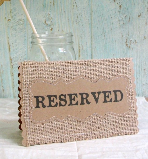 RESERVED Glass Place Card Holder for placecard or by Baggavond  |Reserved Table Sign Holder