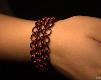 Leather and Lace - Japanese 12-in-2 Chain Mail Cuff