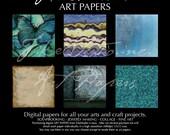 Digital Art Paper, ButterFly Blue