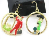 holiday hotel lady vacation doorman pierced gold tone earrings colorful gift for her birthday valentines day