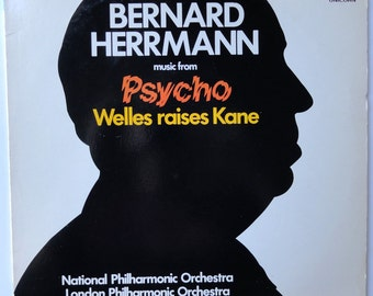Rare Music from Psycho and Welles Raises Kane Vinyl Soundtrack (1978) - Excellent Condition