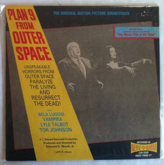 "Rare ""Plan 9 From Outer Space"" Vinyl Soundtrack Ed Wood - Excellent Condition"