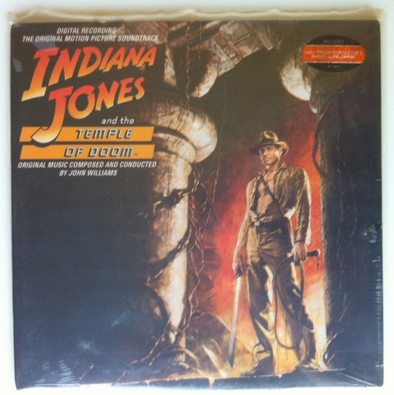 VERY RARE Indiana Jones and the Temple of Doom Vinyl Soundtrack LP - Sealed