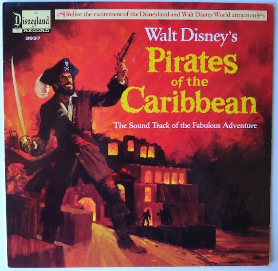 Very Rare Pirates Of The Caribbean Walt Disney Ride Vinyl