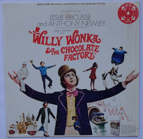 """RARE """"Willy Wonka and the Chocolate Factory"""" Vinyl Soundtrack (1971) - Very Good Condition"""