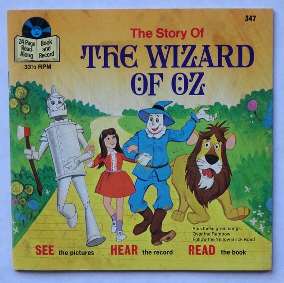 """Rare """"The Story of The Wizard of Oz"""" 7 """" 33 1/3 RPM Vinyl Soundtrack (1974) - Very Good Condition"""