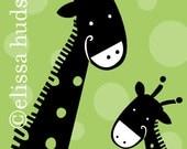 Wall Art Print Animal Series- Happy Giraffes