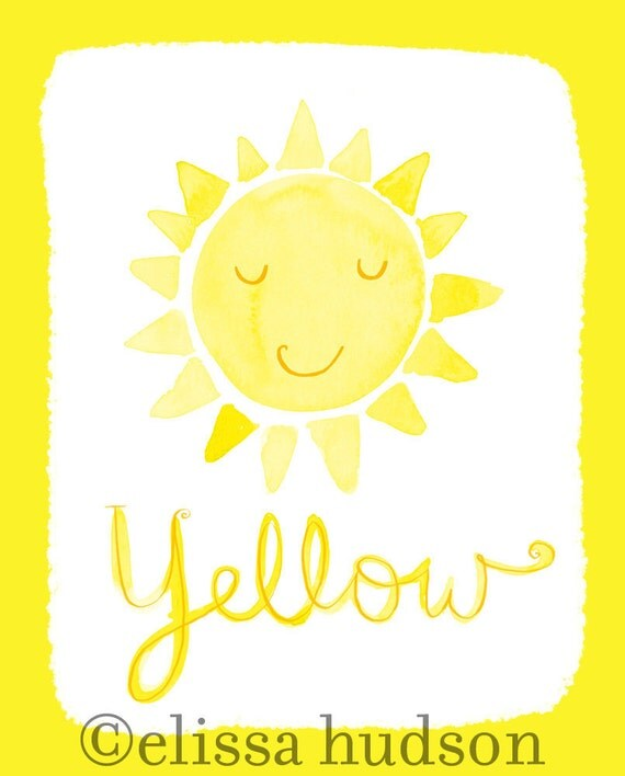 Wall Art Print Color Series- Yellow