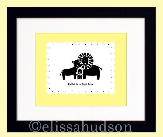 Animal Series Wall Art Print Lion Family
