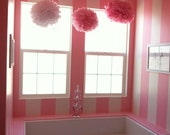 Pink colors. Paper pom poms, hanging flowers, wedding decor. Set of 10 poms. Add magic to your event with PomMagic
