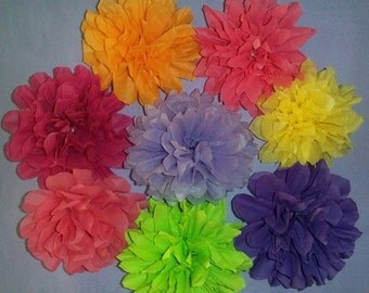 Wedding decorations, Bridal shower, Baby shower. Tissue paper pom poms 7.