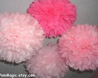 Set of 10 paper poms. Pick your colors