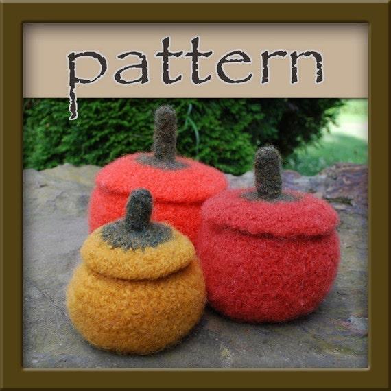 PATTERN Pumpkin / Gourd Bowl Trio - Felted Crochet Jars PDF No. 106