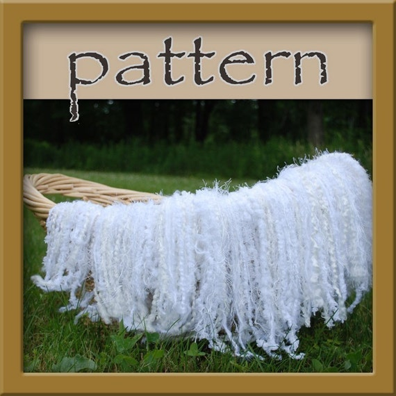 PATTERNS Fringe Blanket Newborn Photography Prop - Crochet PDF No. 108