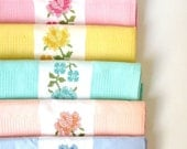 SALE.. 100 Percent Natural Cotton 6 Kitchen Towels  ...Ready to Ship tagt team