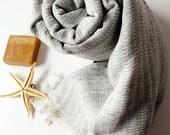 NATURAL Cotton ,Very Soft ,Eco Friendly Linen PESHTEMAL,SHAWL High Quality Hand Woven Turkish Silk & Cotton Bath,Beach,Spa,Yoga,Pool Towel
