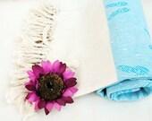 Butterfly BATH Towel,NATURAL Cotton ,Eco Friendly PESHTEMAL,High Quality Hand Woven Turkish Cotton Bath,Beach,Spa,Yoga,Pool Towel