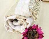 BATH Towel,NATURAL Cotton ,Eco Friendly PESHTEMAL,High Quality Hand Woven White and Gray Turkish Cotton Bath,Beach,Spa,Yoga,Pool Towel