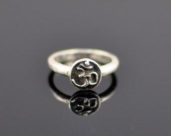 Delicate Om Ring, Zen, Yoga Jewelry, Quotes