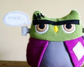 Halloween Frankenstein Monster Owl Plush - Herman - Limited Edition