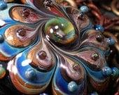 Kalid Kismet  - Handmade Lampwork Focal Bead By Sra Artist Payton Jett