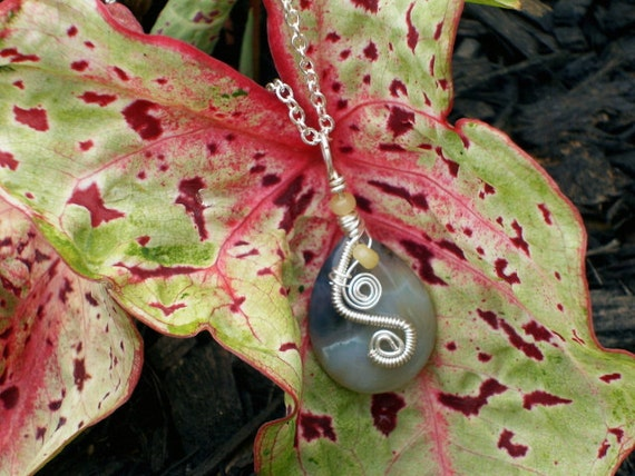 BLACK FRIDAY ETSY Small Sterling Silver Ocean Jasper Pendant Cyber Monday Etsy