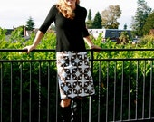 Women's skirt   Fall Clearance SALE- Brown and Blue Women's Classic Skirt- 60% off