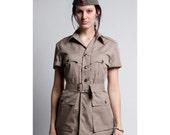 1950's BRAND NEW  Rare Authentic Royal Airforce Safari Bush Khaki Women's Military Style Shirt