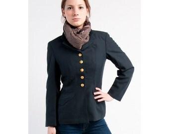 1960's Swedish New Women's MILITARY STYLE Vintage Blazer / Dress Jacket / (Small to XL)