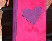 pink and purple heart hardback journal/diary