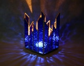 Glass Candle Holder Cobalt Blue Stained Glass