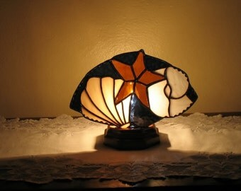 Glass Lamp Stained Glass Sea Shells
